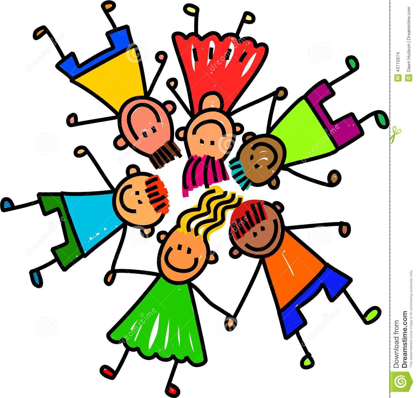 group of happy kids stock illustration illustration of