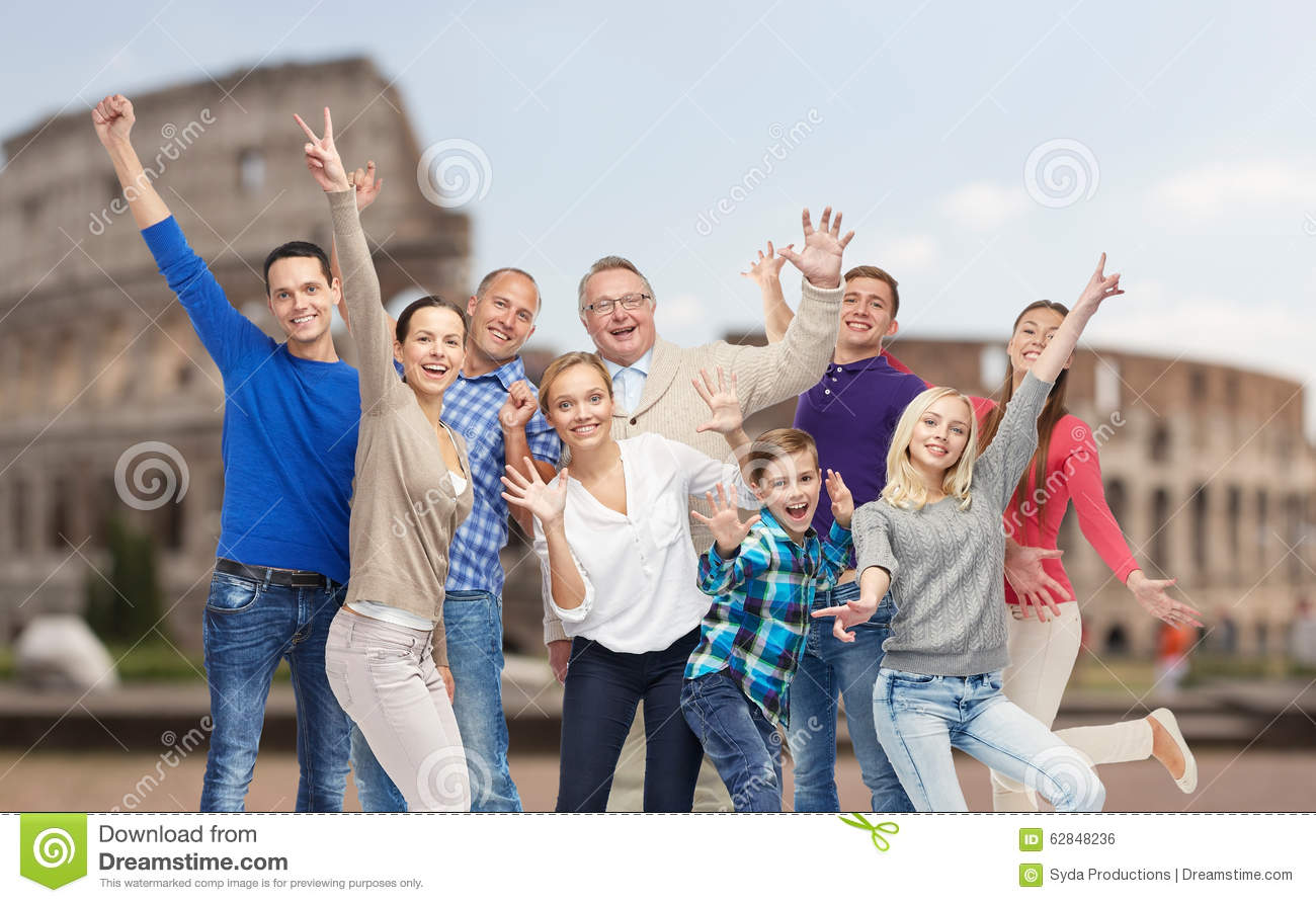 group of happy people having fun over coliseum stock photo roman colosseum clipart Colosseum PNG Transparent