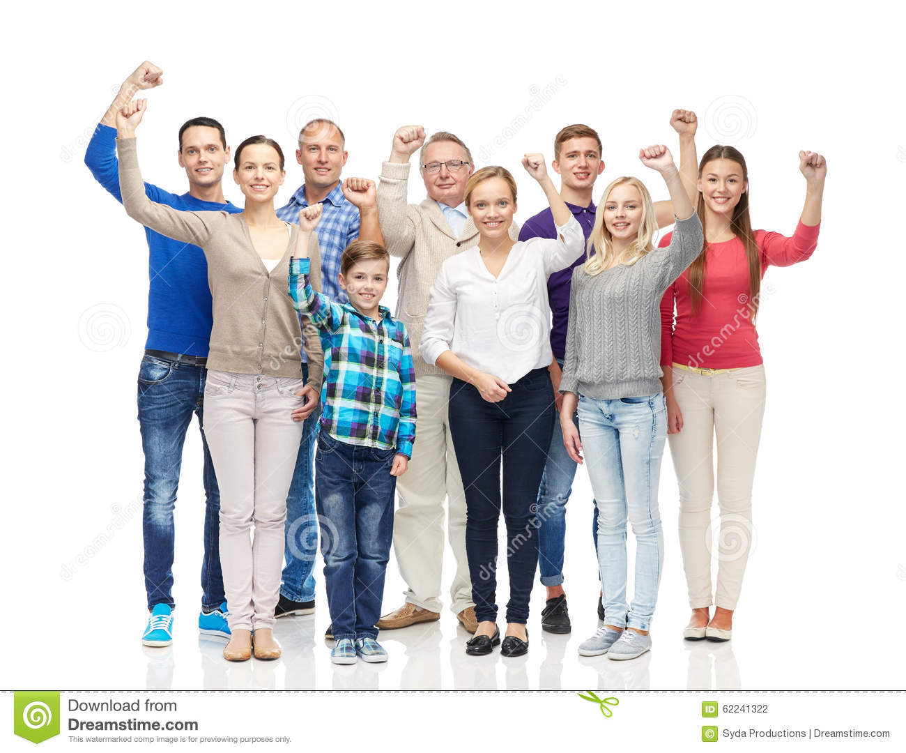 Family, gender, generation and people concept - group of happy men ...
