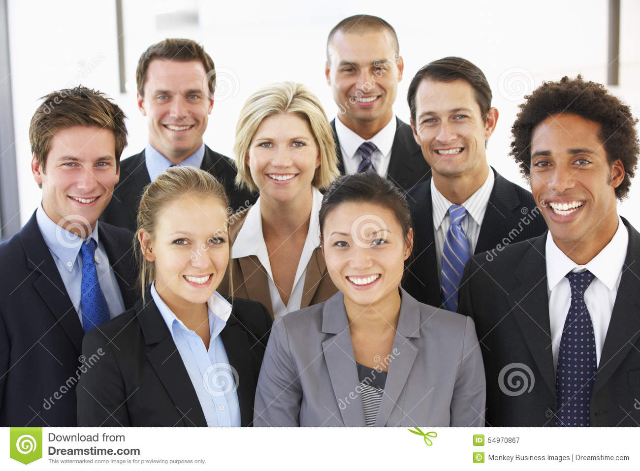 Group Of Happy And Positive Business People