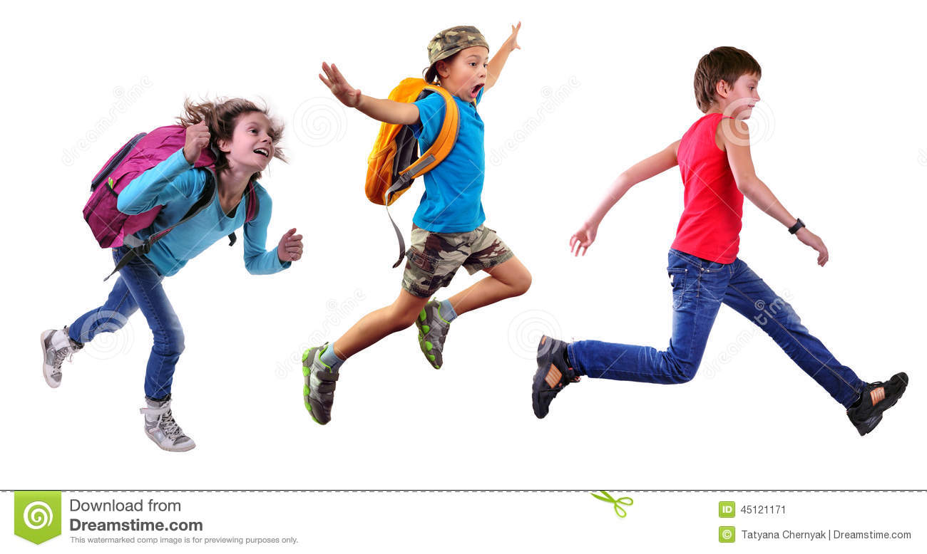 children running in school - photo #27