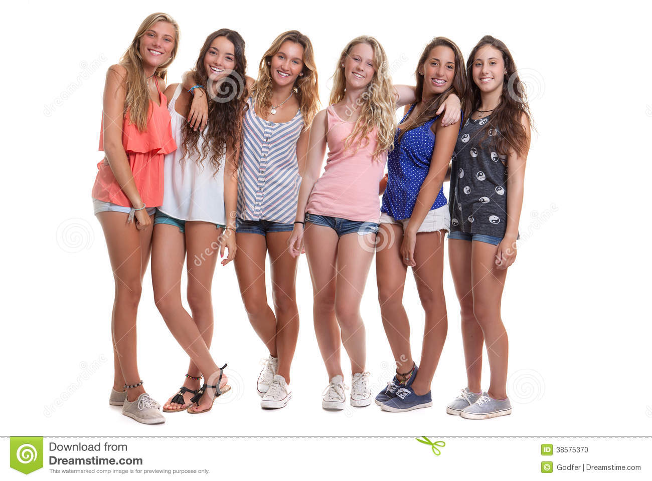 group picture teen woman