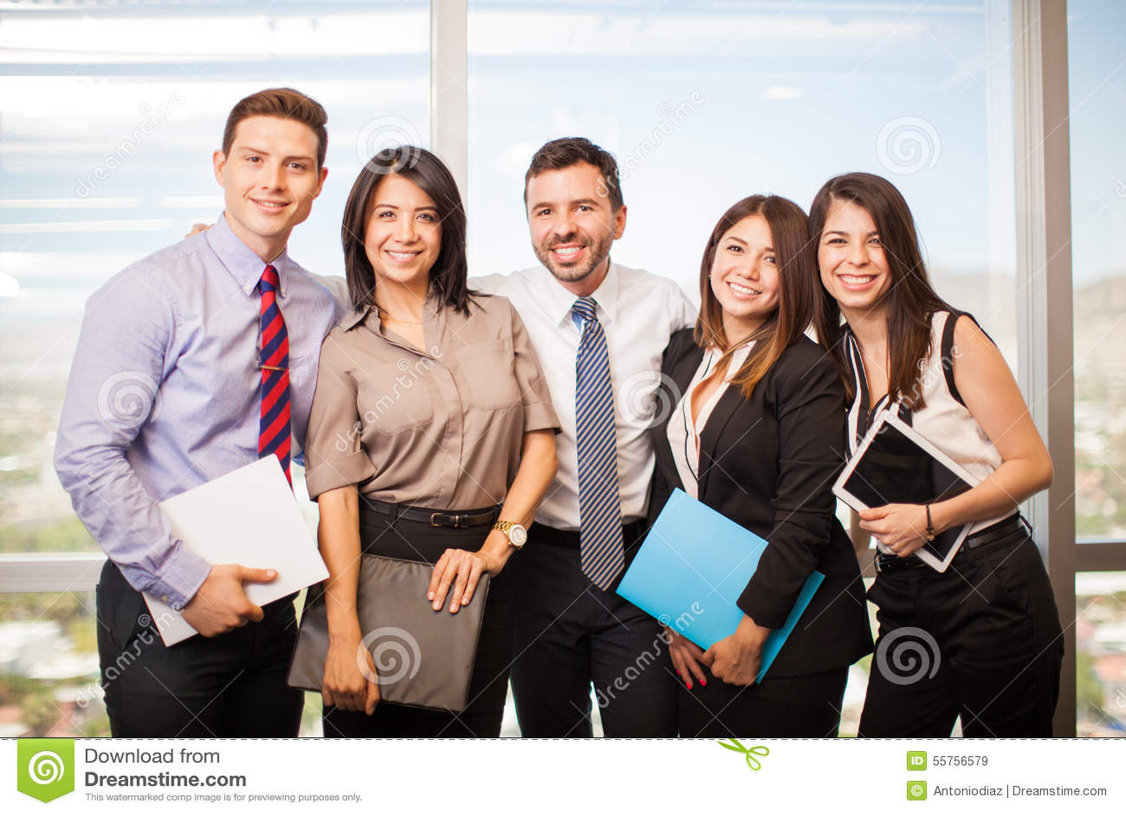 group of hispanic people meet