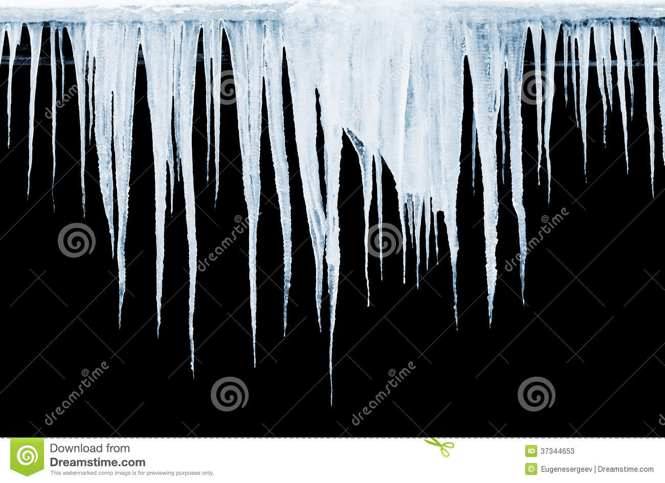 Group of icicles on black background stock photos image for Hanging groups of pictures
