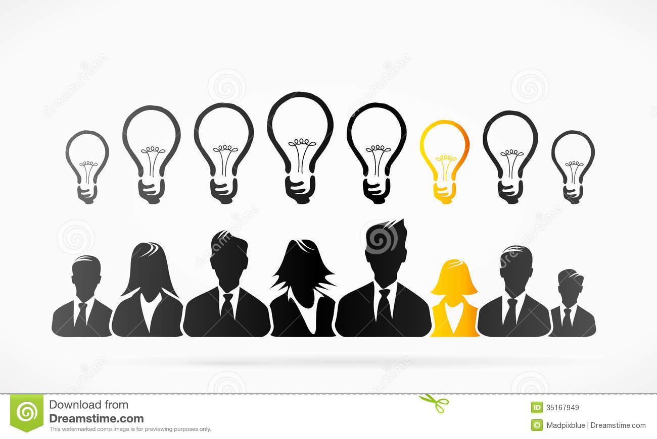 Group ideas business people abstract vector illustration.