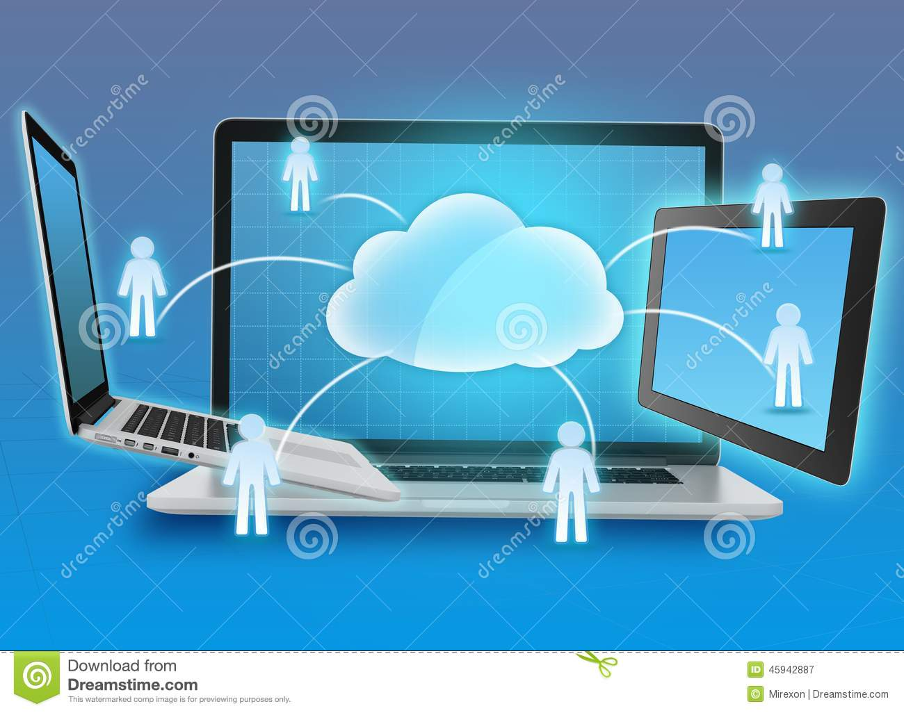 Group information storage in cloud computing,