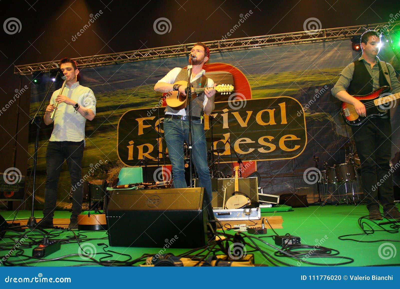 Group of Irish music players of Kilkennys