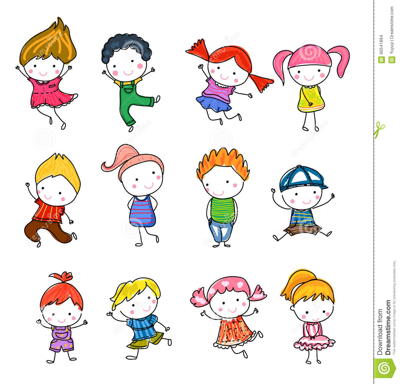 group of kidsdrawing sketch stock images - Drawing Sketch For Kids