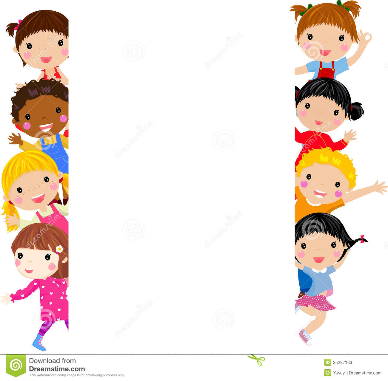 Group Of Kids Having Fun Stock Vector Illustration Of Greeting 35297163