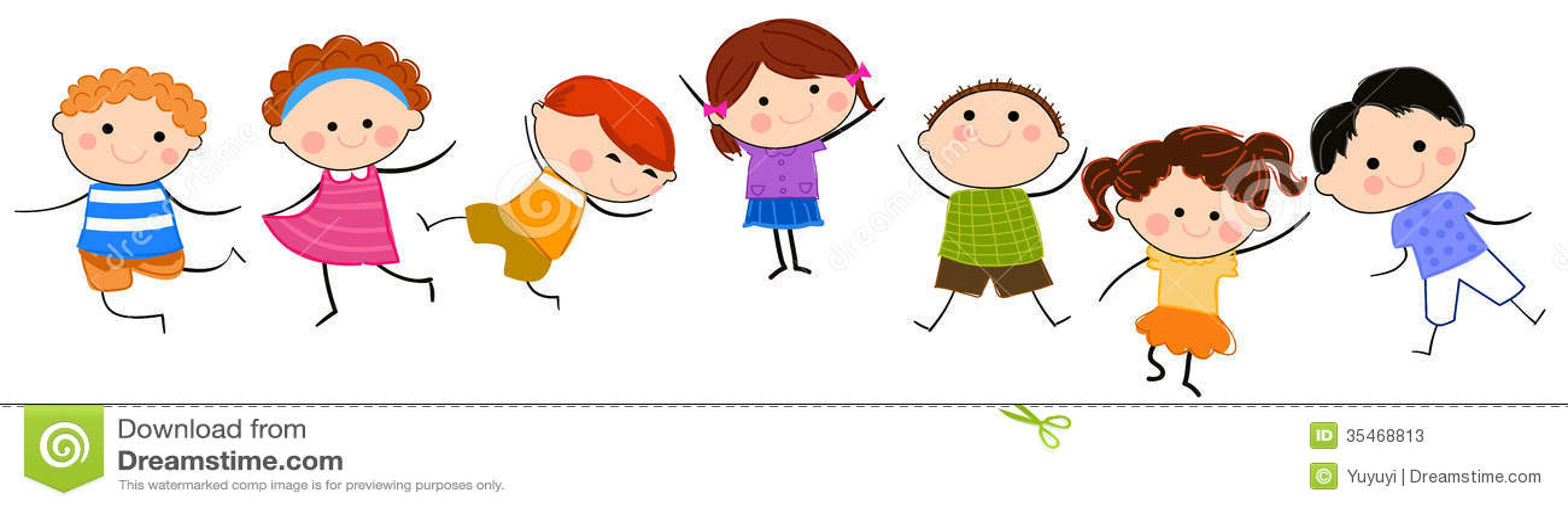 Group Of Kids Having Fun Stock Vector Illustration Of Illustration 35468813