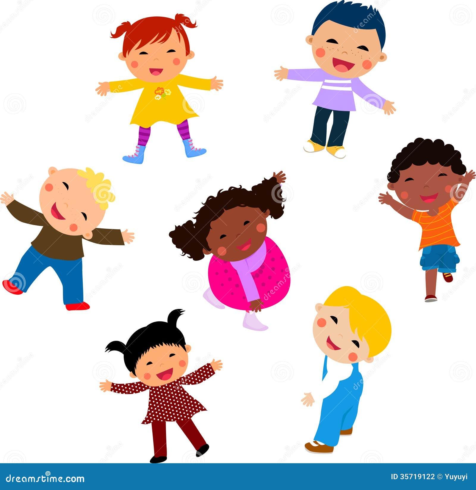 Group Of Kids Having Fun Stock Vector Illustration Of Running 35719122