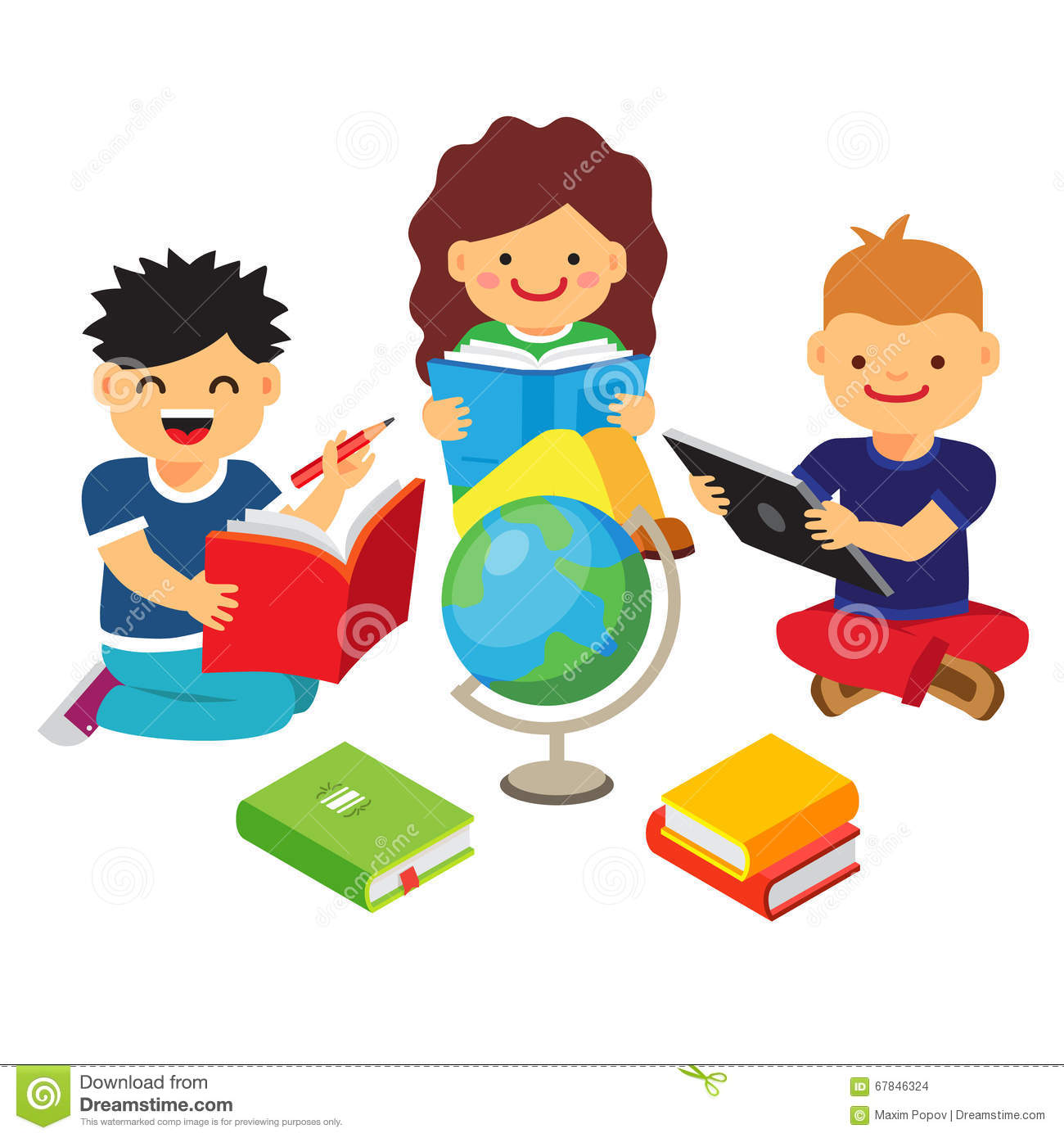 Boys Learning Together, Education Concept Stock Images - Image ...