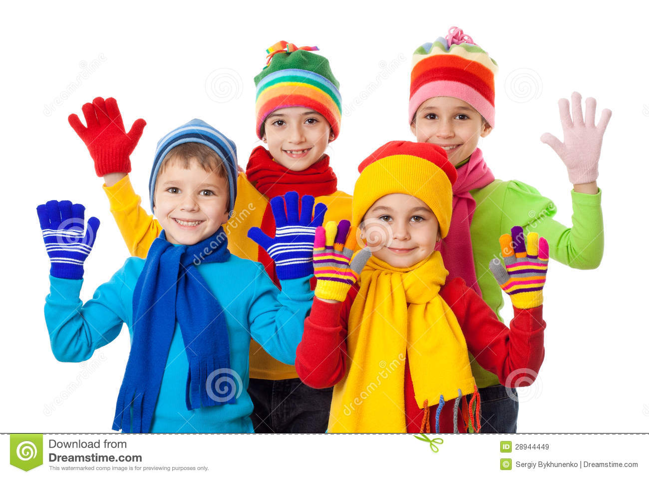 Kids In Winter Clothes Stock Photo - Image: 8377160