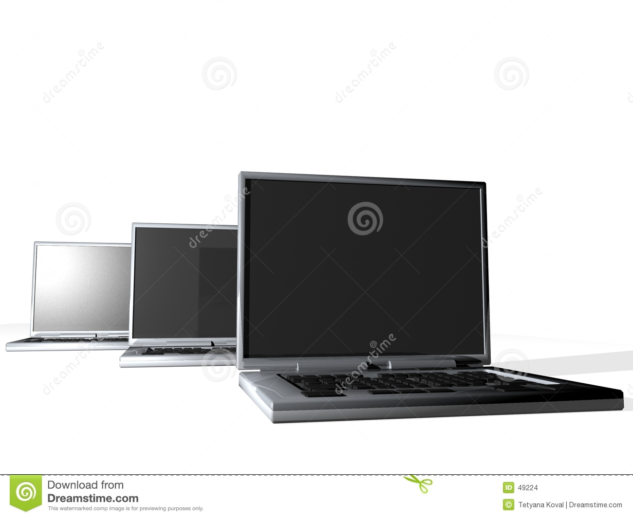 Group of laptops