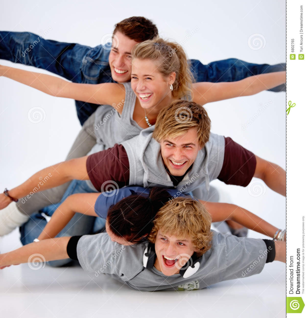 Group Of Laughing Friends Having Fun Stock Image