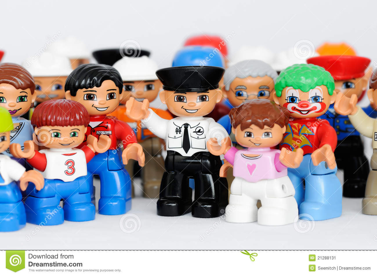 Toys For Groups : A group of lego figures editorial photo image