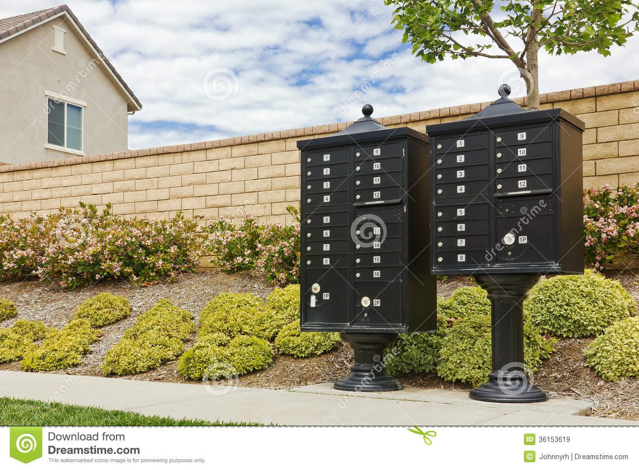 Group Of Mailboxes Royalty Free Stock Images Image 36153619