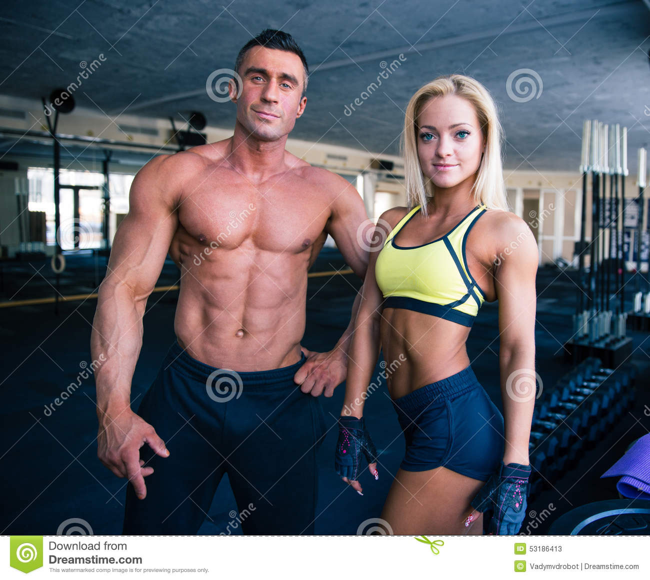 Group of a man and woman in crossfit gym stock photo image 53186413