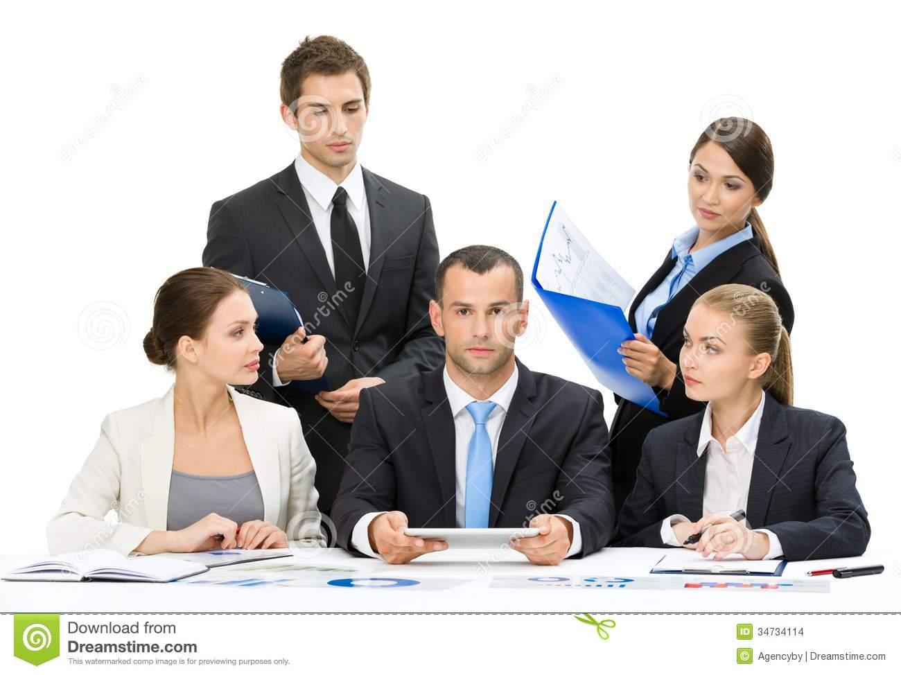 Business team meeting cooperation ... | Stock Vector ...  |Group Cooperation