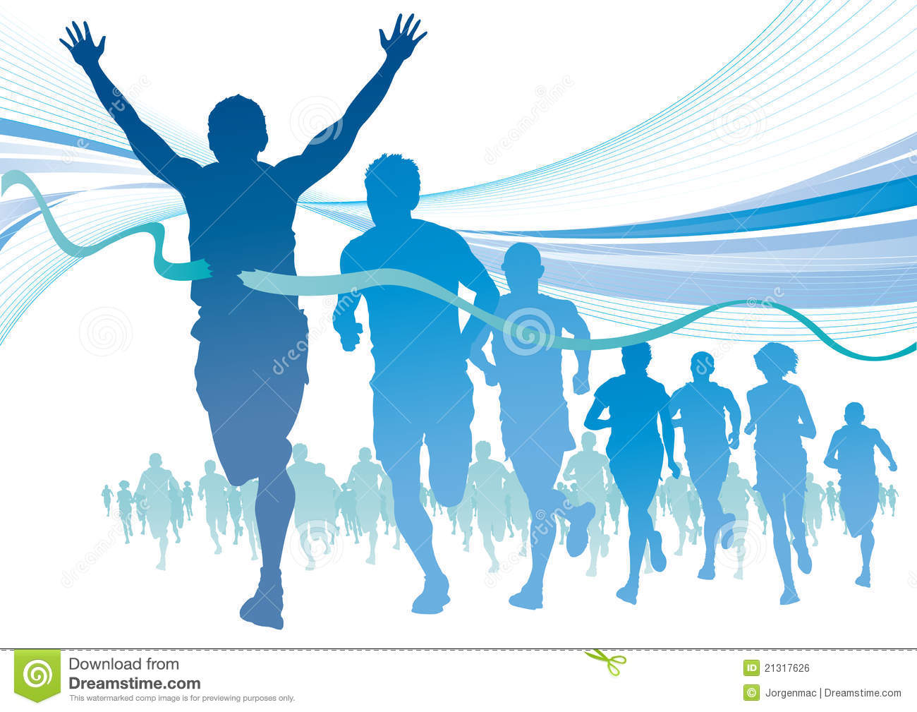 Sport clipart marathon runner - Pencil and in color sport clipart ...