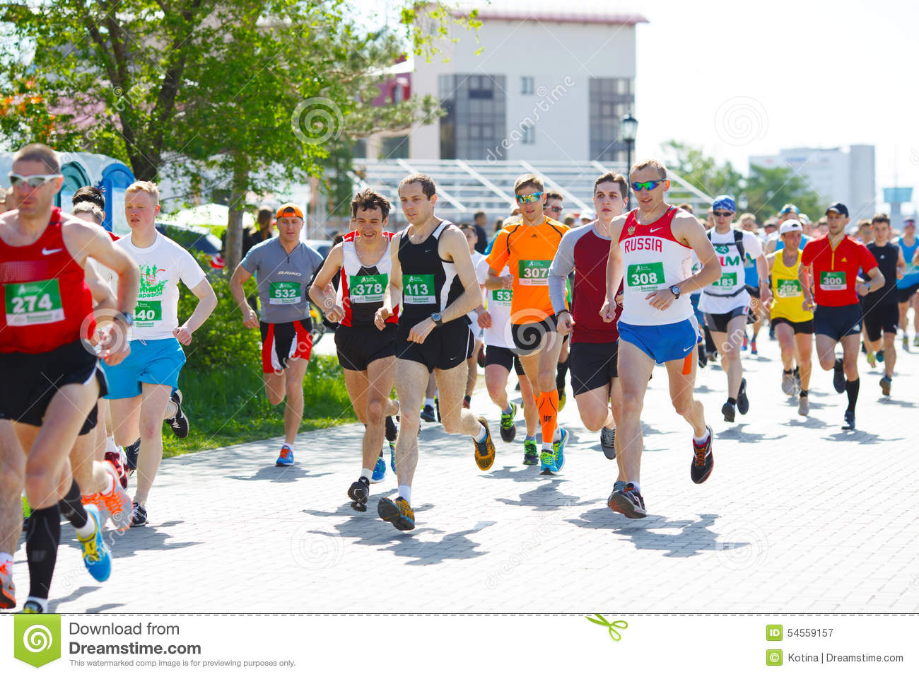 Runners At Half Marathon Romaostia 2014 Editorial Photo ...