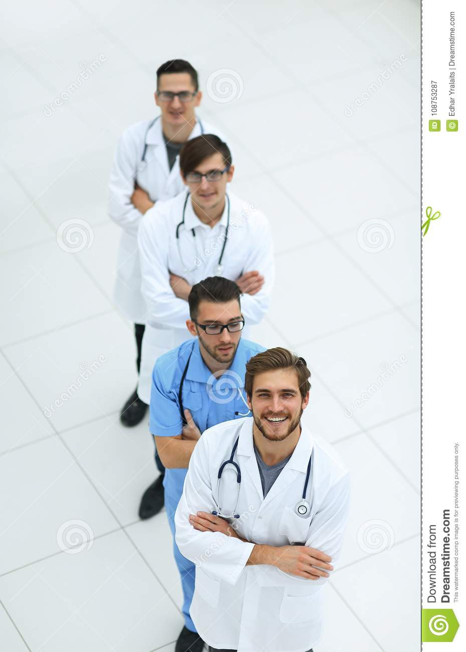 Group of medical personnel.isolated on white