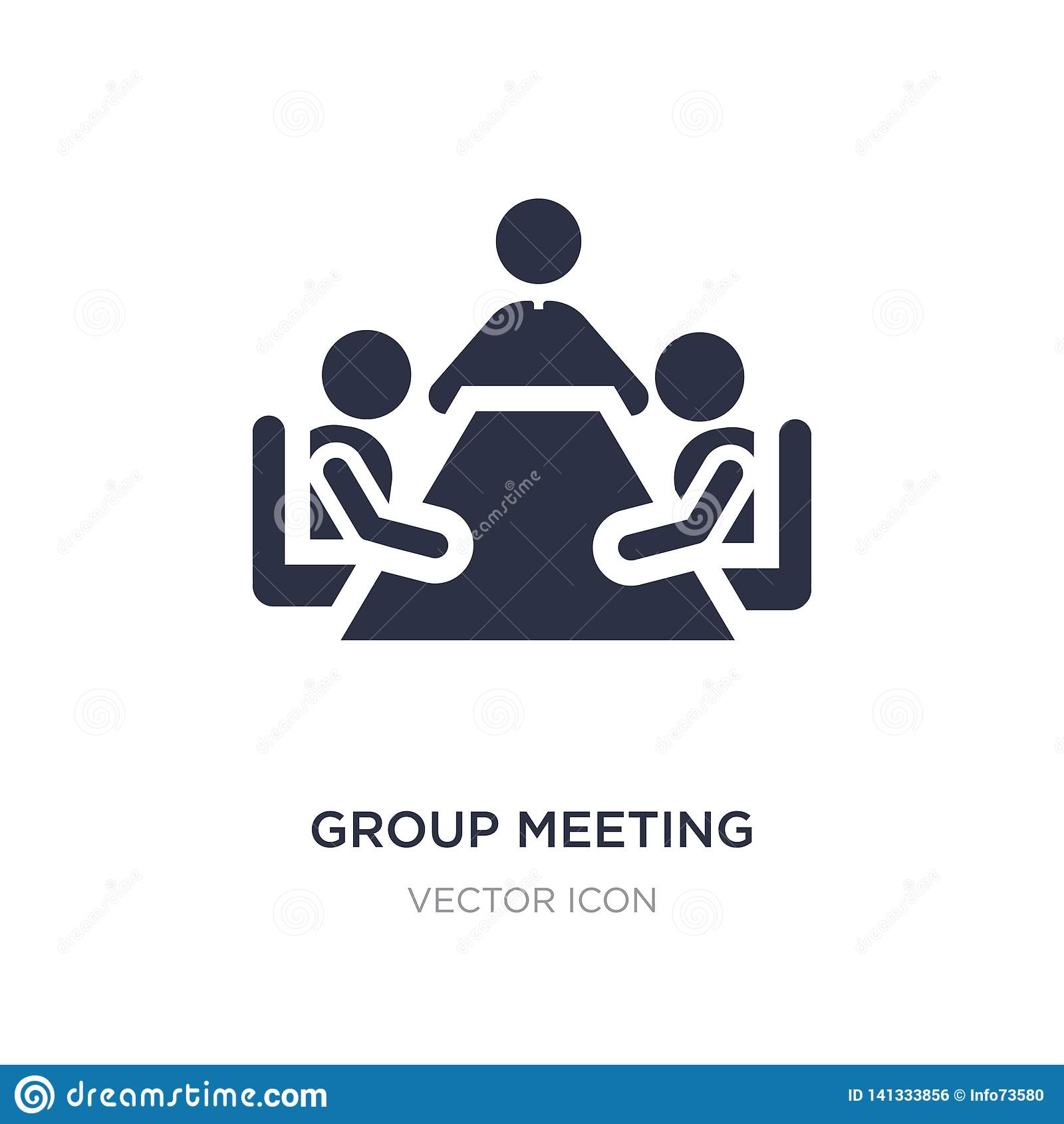 group meeting icon on white background. Simple element illustration from People concept