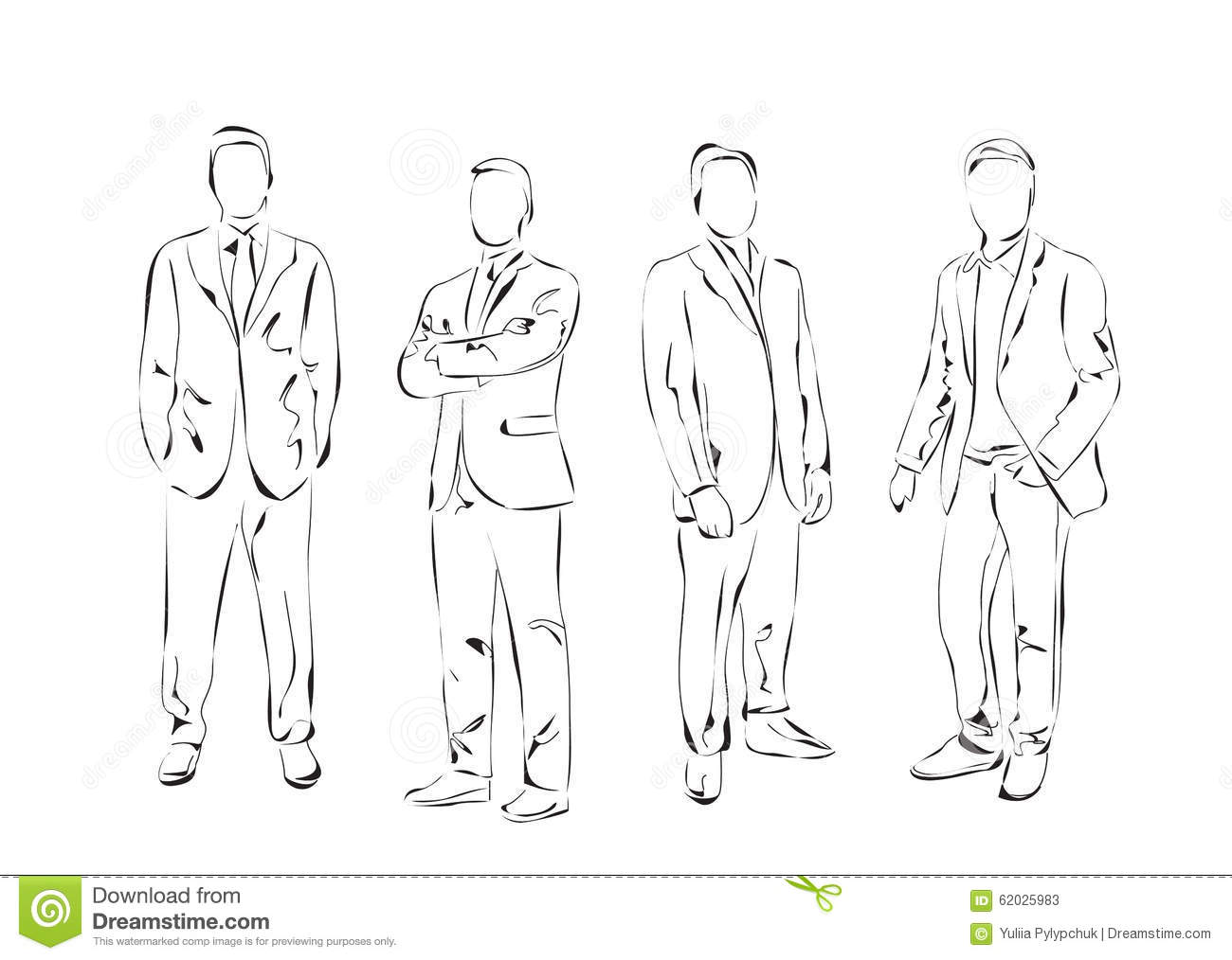 group of men dressed in the suit stock vector illustration of male