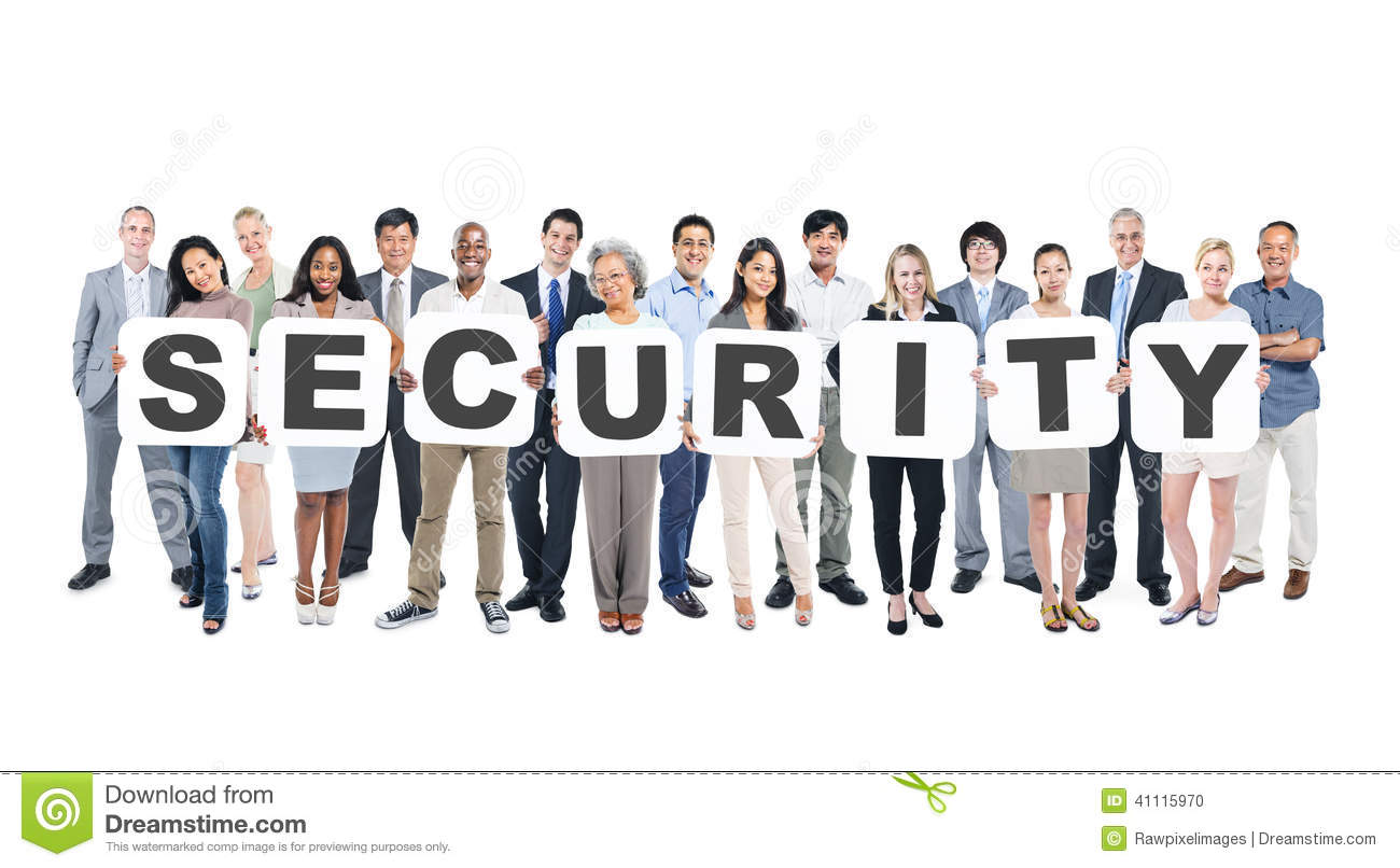 Stock Photo Group Multi Ethnic Group Business People Holding Placards Forming Security Image41115970 on 2d house drawing