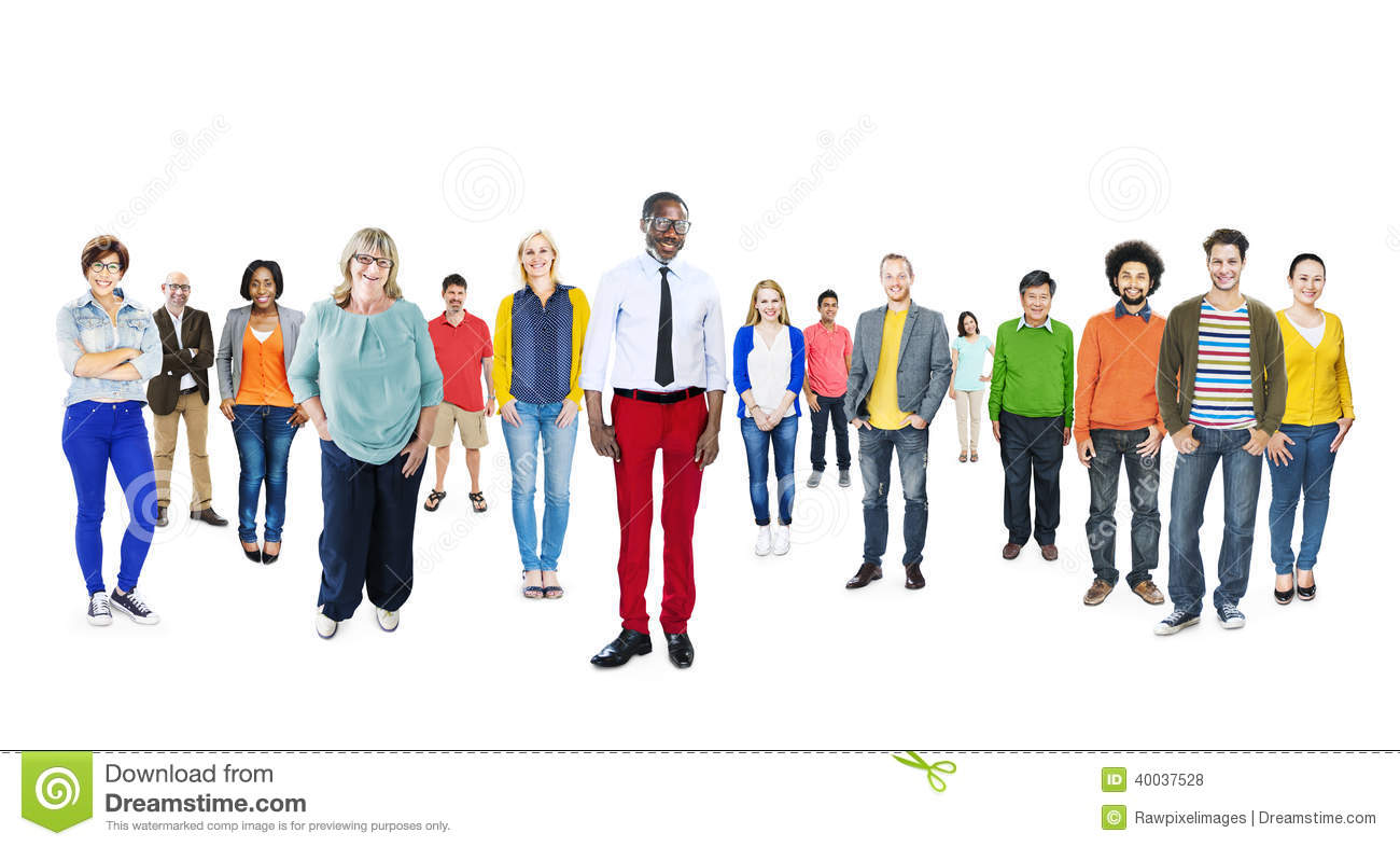Group Of Multiethnic Diverse Colorful People Royalty-Free ... Colorful People