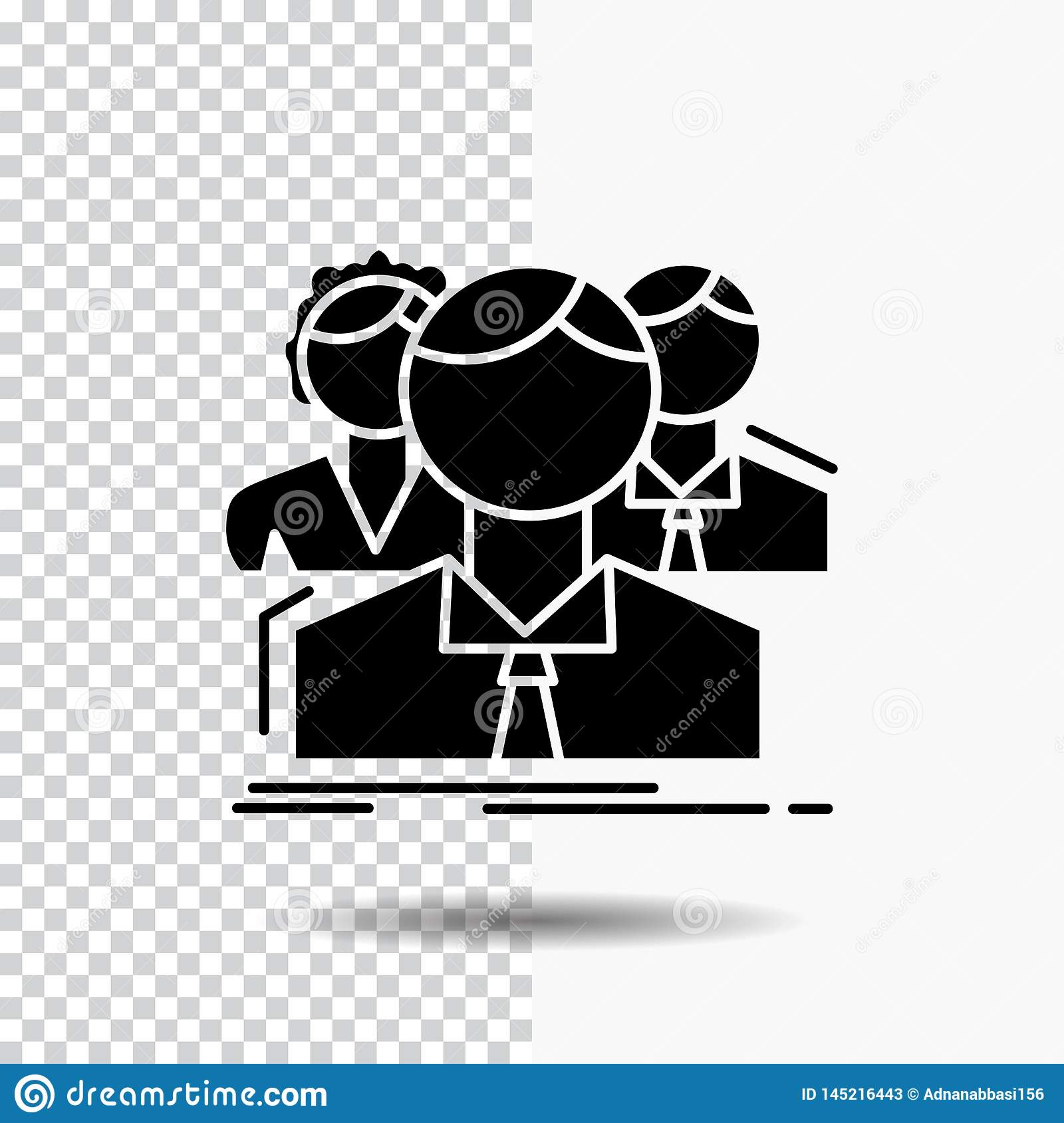 Transparent People Icon Vector