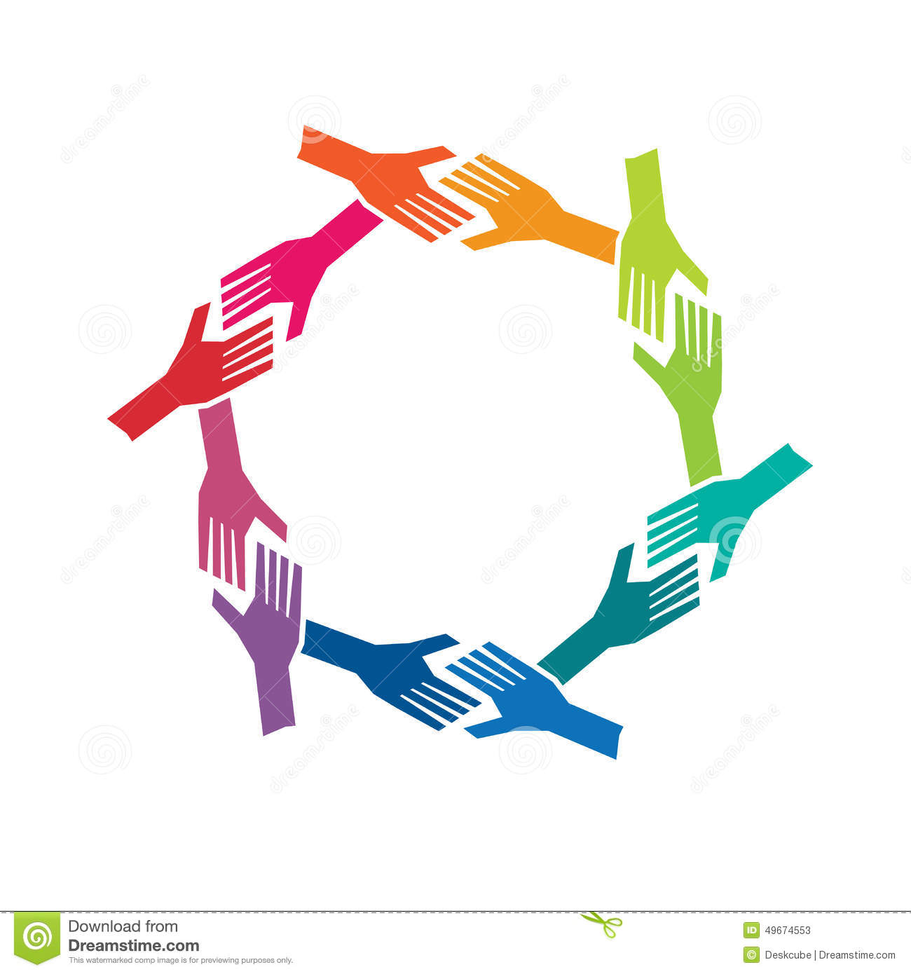 people hands in circle logo stock vector illustration of happy