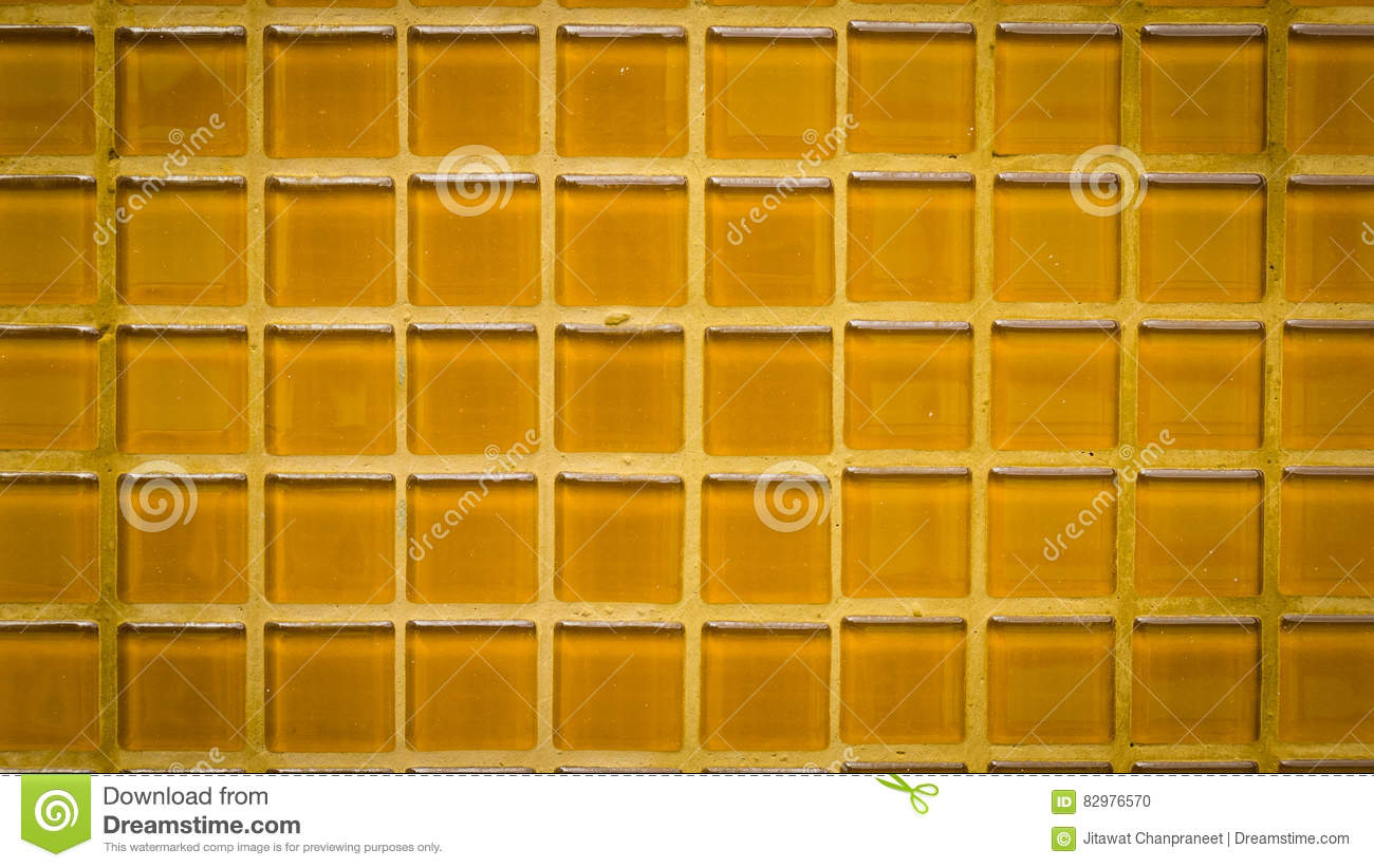 Group of orange tiles texture background with vignette effect