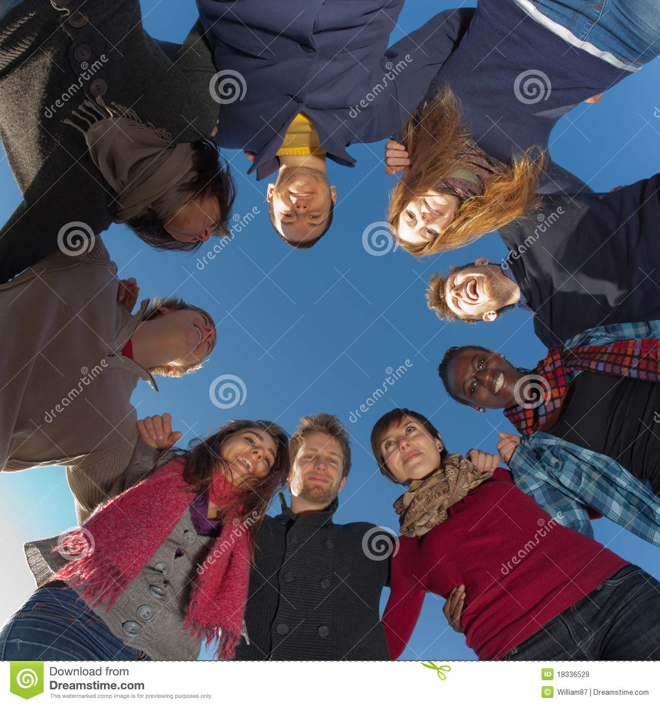 Group of People in circle