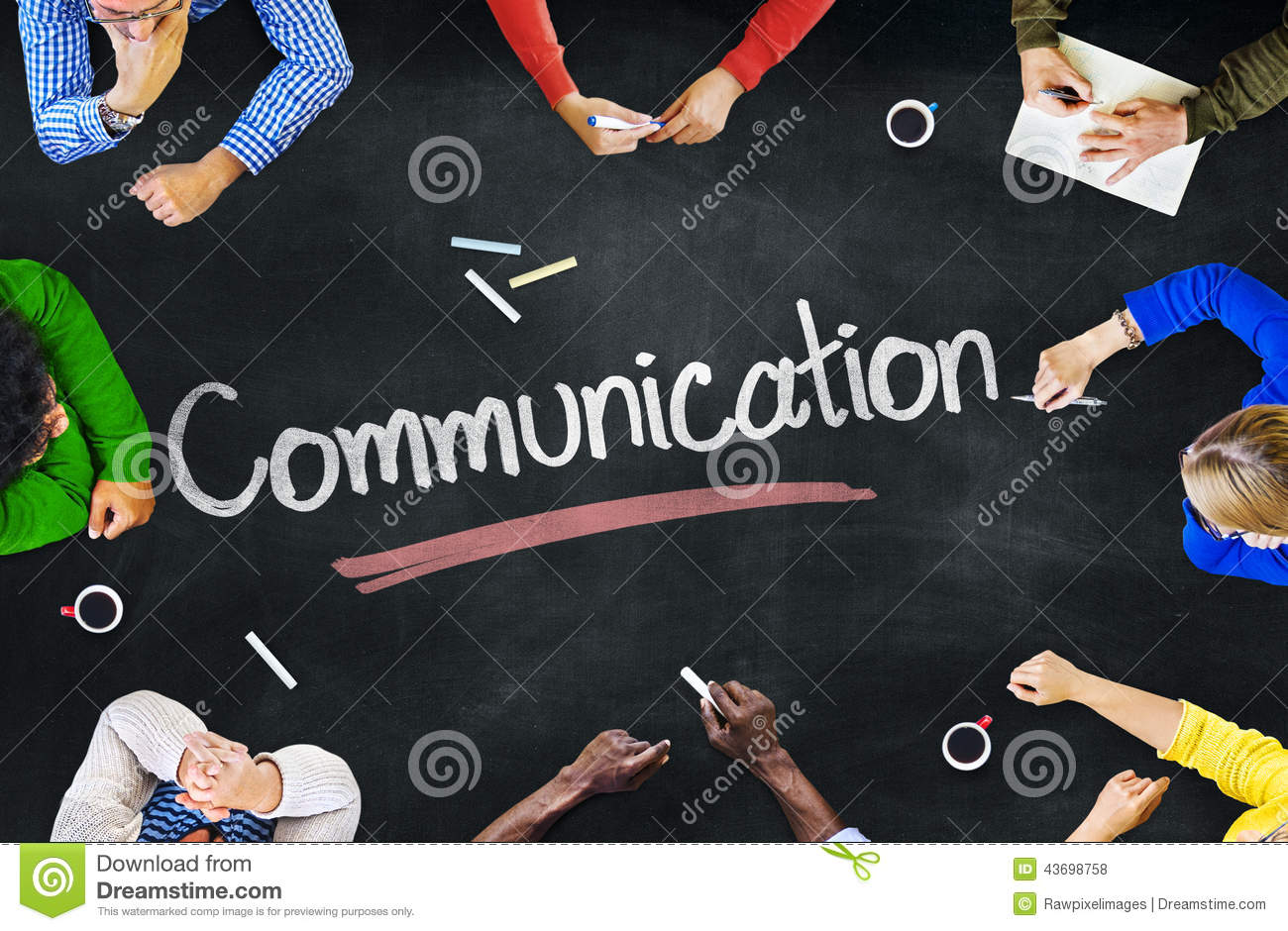 Group of People with Communication Concepts