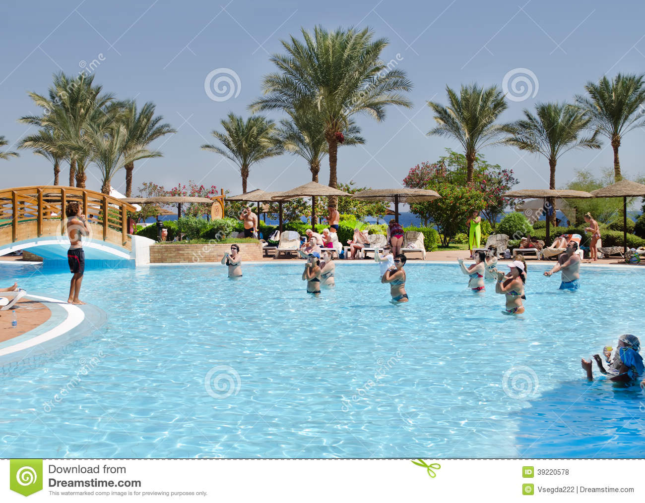 Hotel pool with people  People Swimming In The Pool Editorial Photography - Image: 57704272