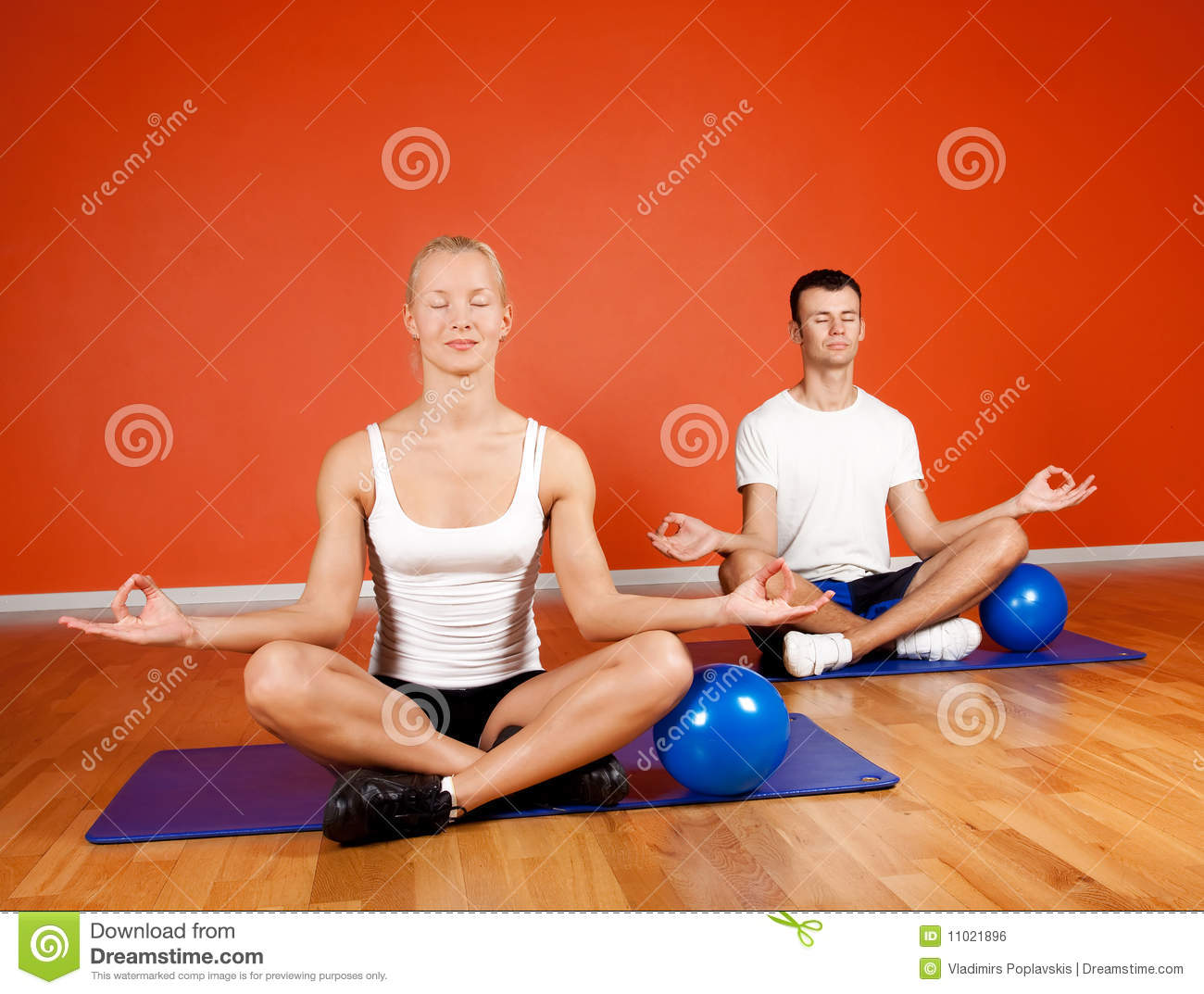 Group Of People Doing Yoga Exercise Royalty Free Stock