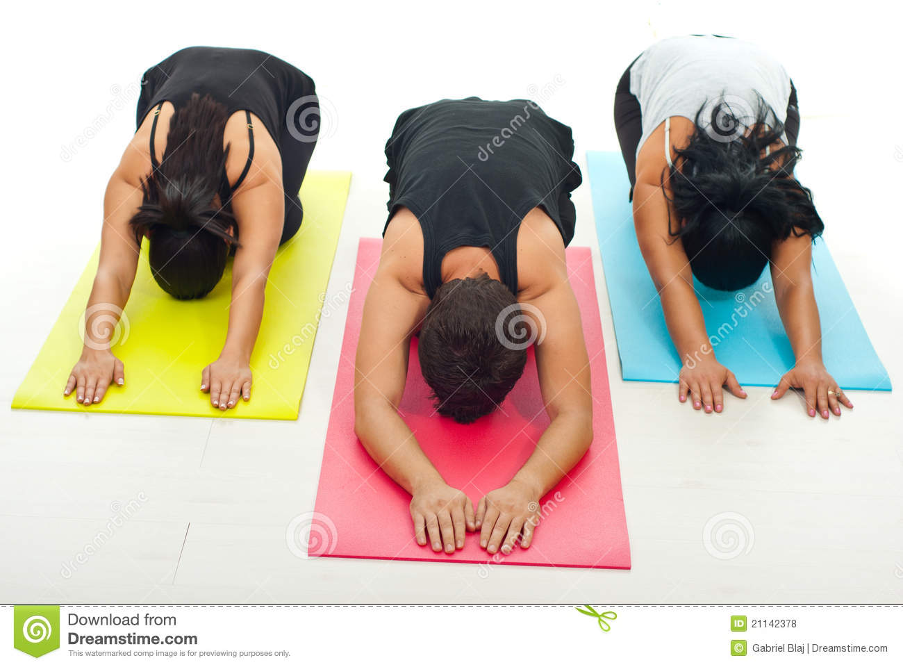 group of people doing yoga exercise stock photo image of class