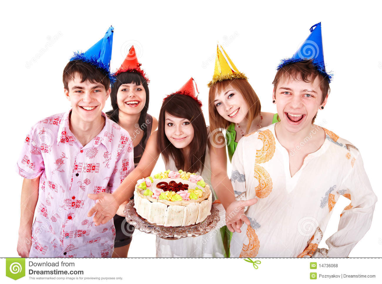 Group People Eat Cake Royalty Free Stock Photos Image