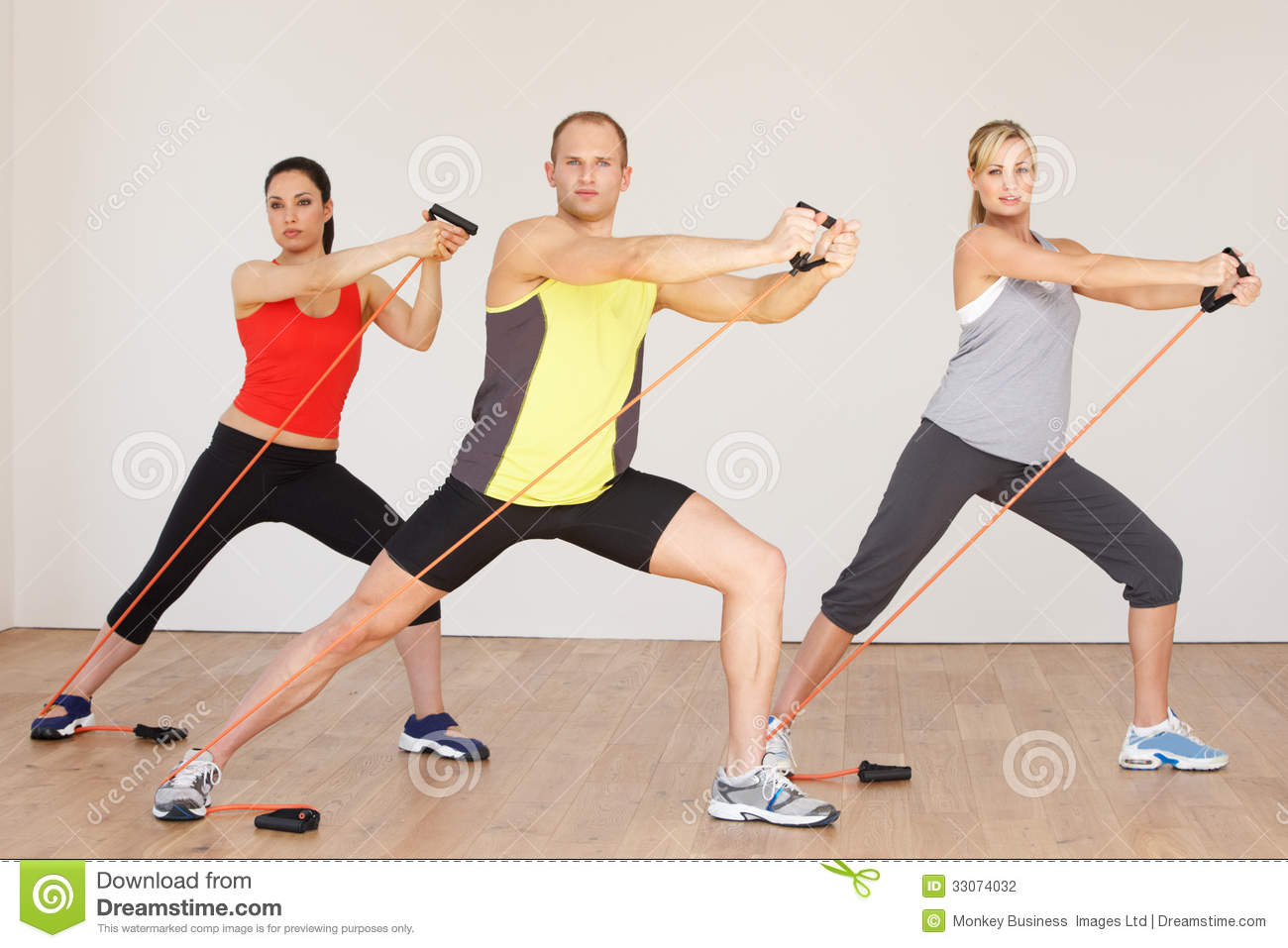 Group Of People Exercising In Gym Stock Photography - Image: 33074032