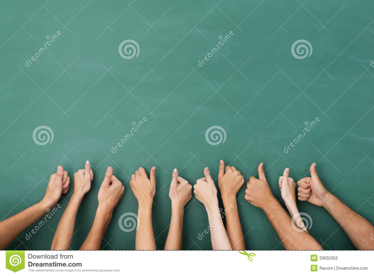 Group of people giving a thumbs up gesture