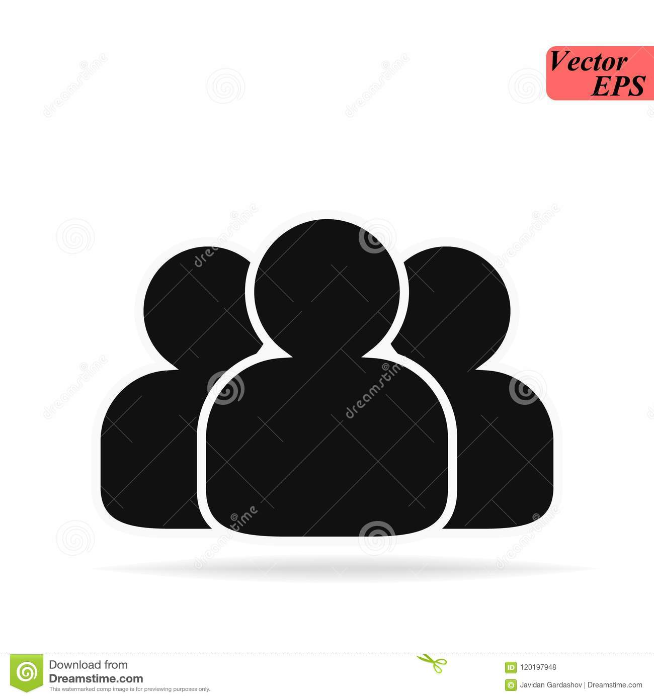 Group Of People Or Group Of Users Friends Flat Icon For Apps And