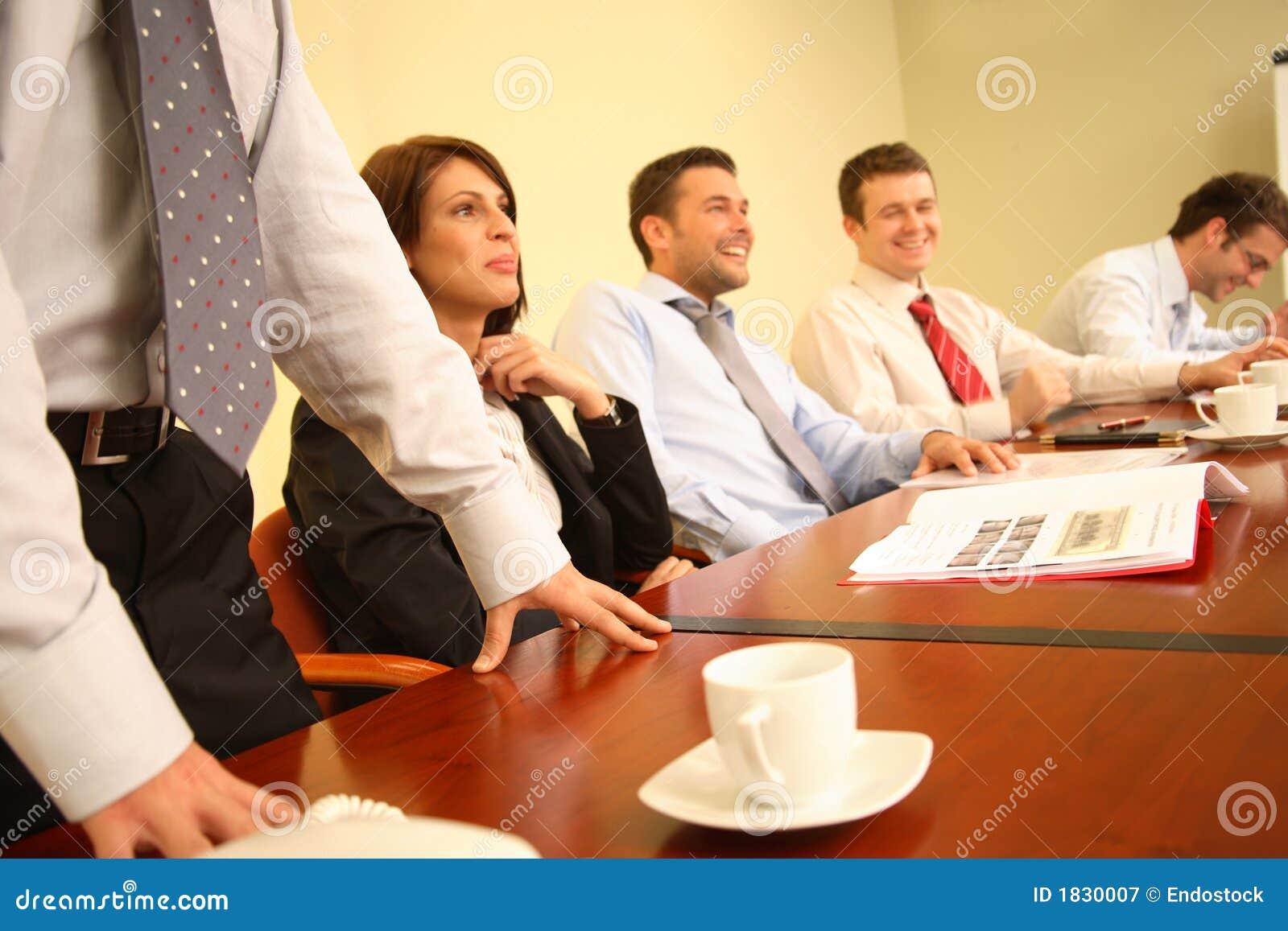 Group Of People Having Fun During Informal Business