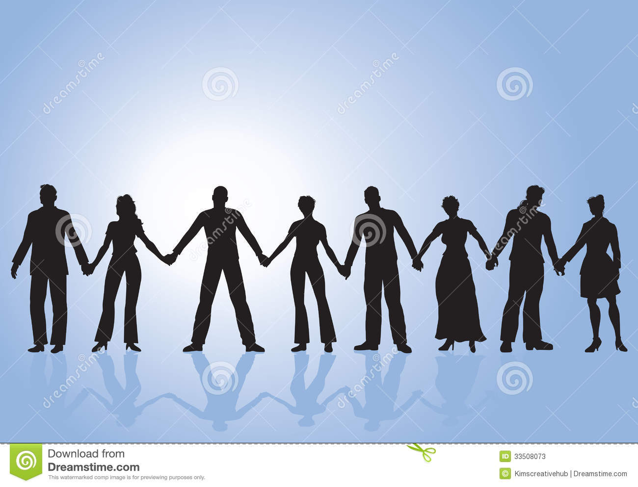 Group Of People Holding Hands Stock Photos - Image: 33508073