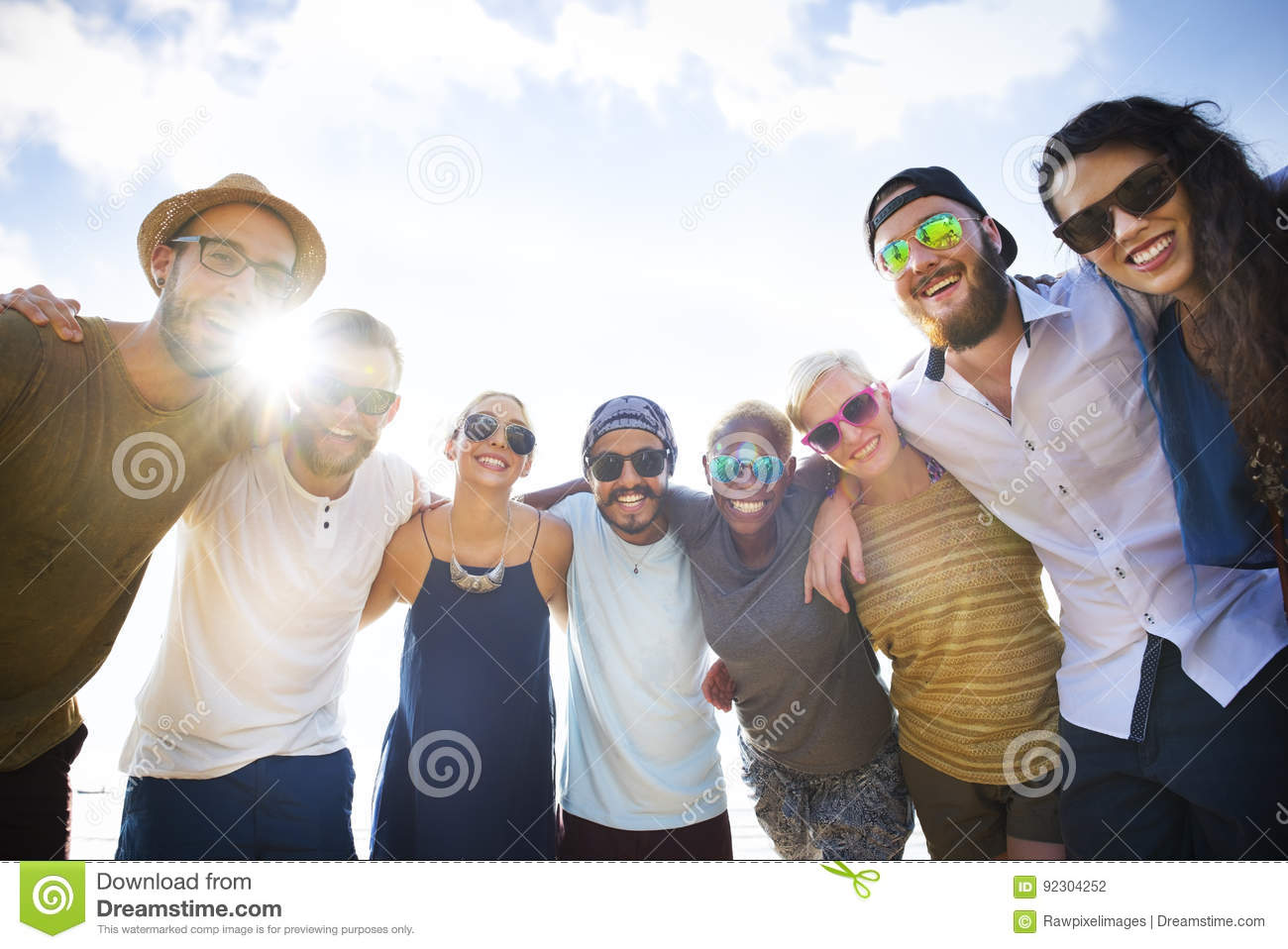 group of people hugging concept stock photo image of african
