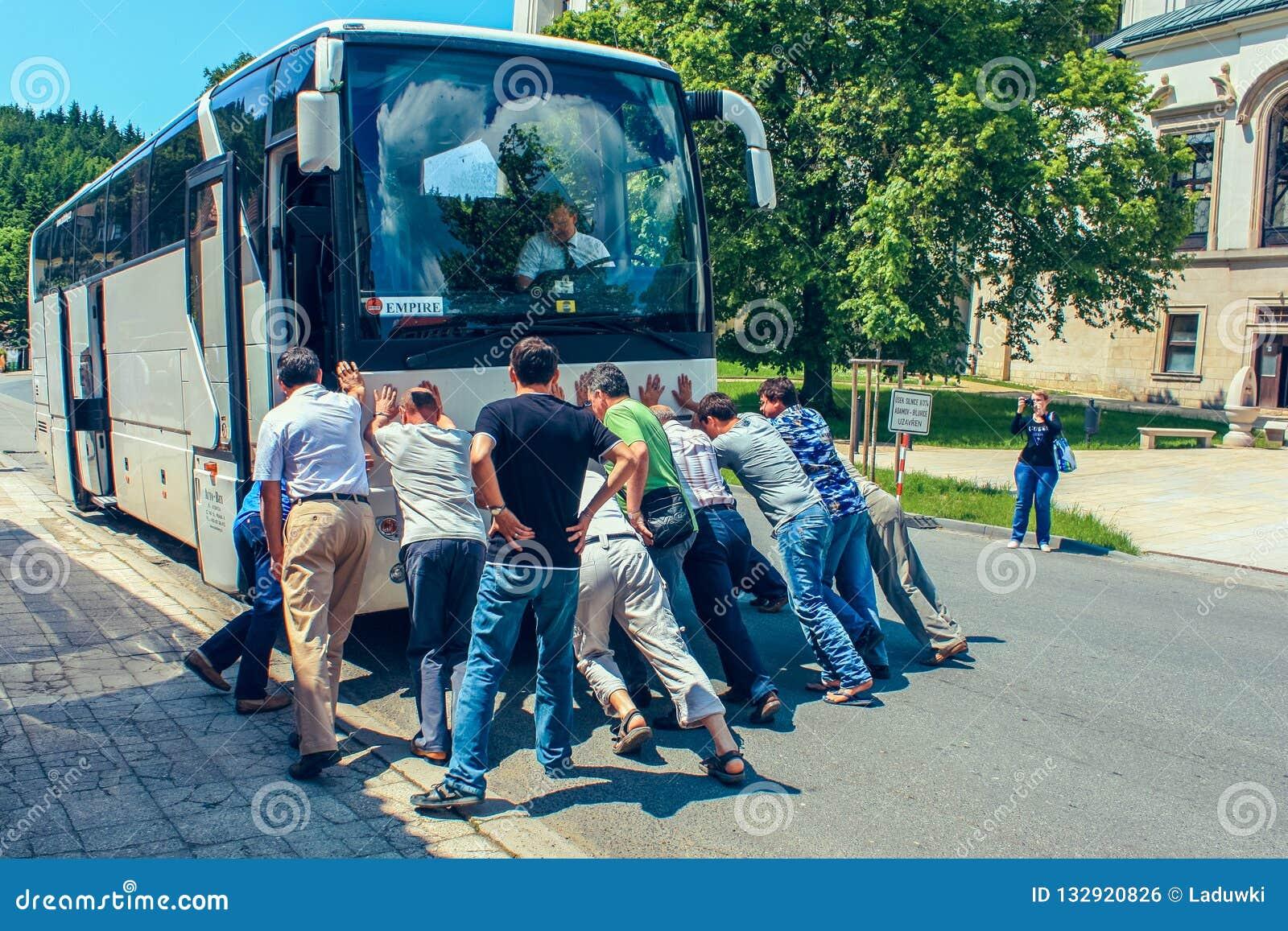 The broken bus