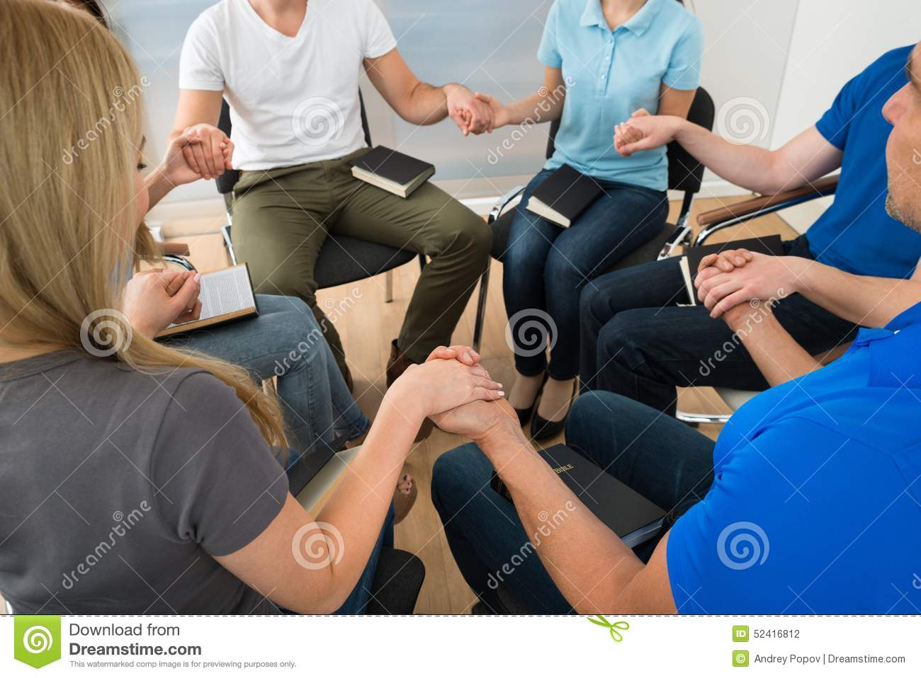 Group of people praying stock photo. Image of caucasian ...