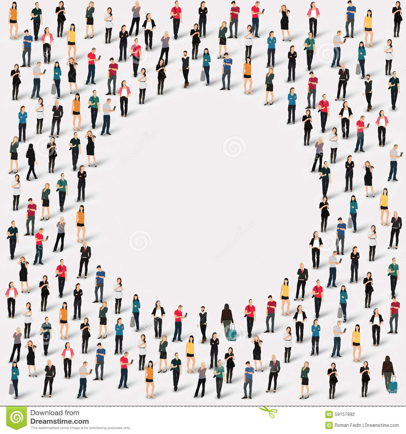 Group People Shape Circle Stock Vector - Image: 59157992