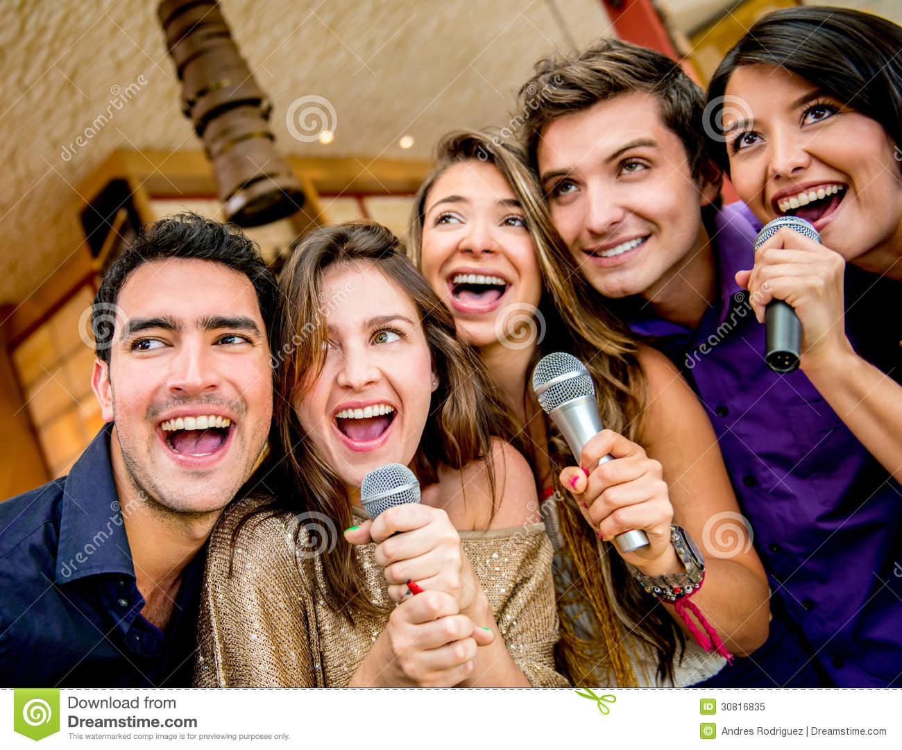 Group of people singing stock image. Image of females ...