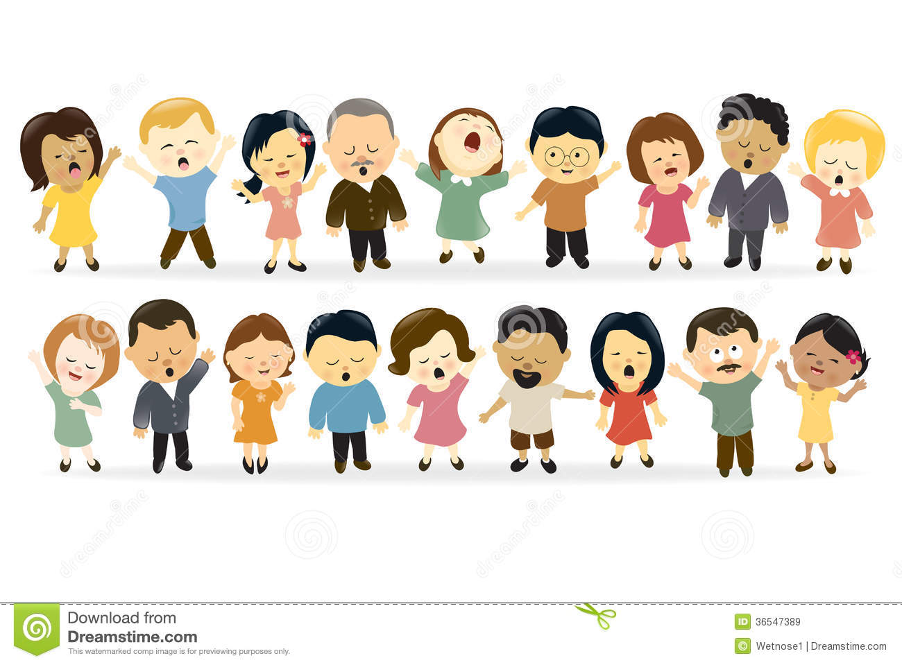 Group Of People Singing Royalty Free Stock Images